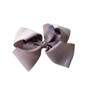 Grey Grosgrain Bow