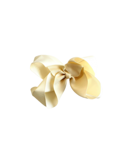 Cream Ivory Grosgrain Bow