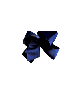 Navy Blue Grosgrain Bow