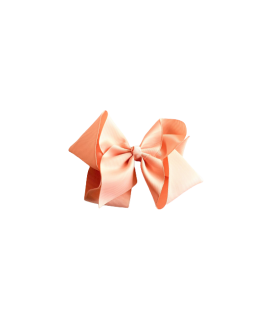 Soft Peach Grosgrain Bow