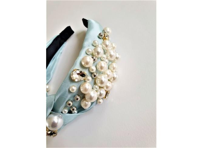 Deluxe Satin Pearl Hairband